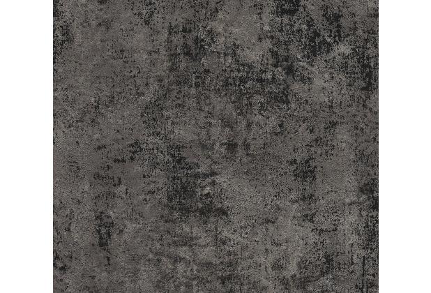 Livingwalls Vliestapete New Walls Tapete Urban Grace Vintage Uni Optik schwarz metallic 374256 10,05 m x 0,53 m