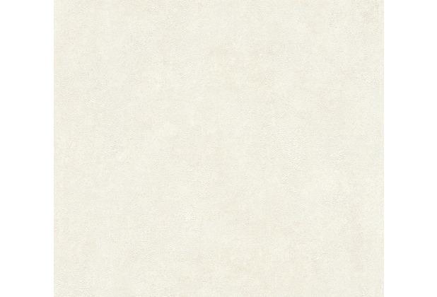 Livingwalls Vliestapete New Walls Tapete Urban Grace Vintage Uni Optik weiß creme 374251 10,05 m x 0,53 m