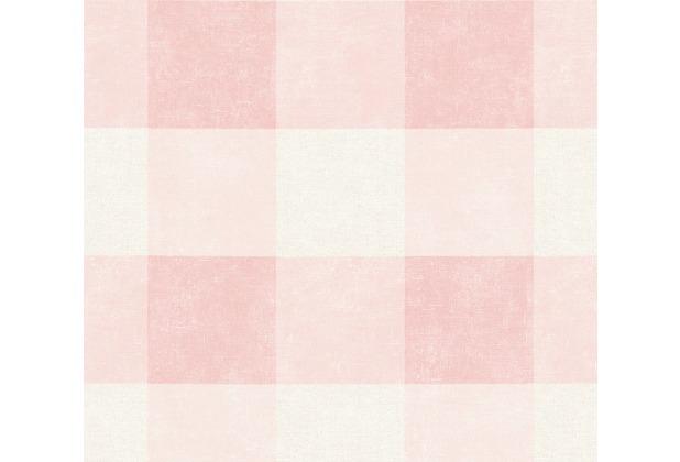 Livingwalls Vliestapete Paradise Garden Tapete kariert creme rosa 367152 10,05 m x 0,53 m