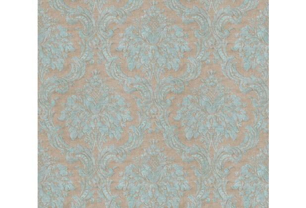Livingwalls Vliestapete Paradise Garden Tapete mit Ornamenten barock braun blau grün 367164 10,05 m x 0,53 m