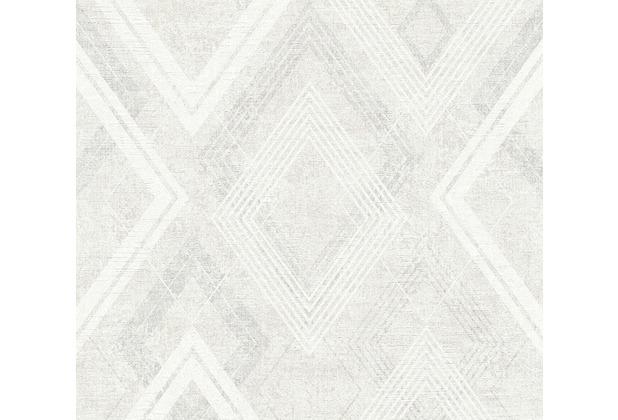 Livingwalls Vliestapete Titanium 2 Tapete creme grau metallic 360003 10,05 m x 0,53 m