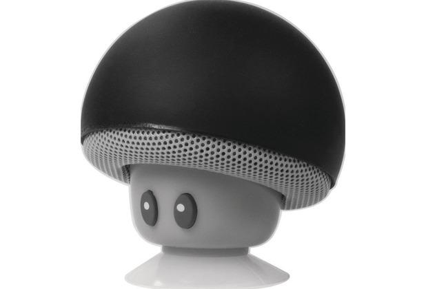 LogiLink portable Bluetooth Speaker mushroom design, schwarz