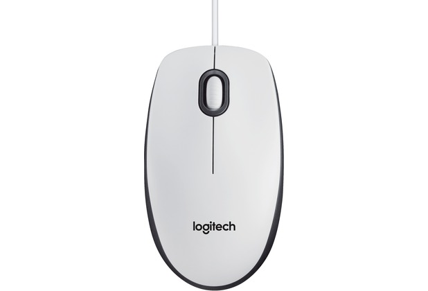 Logitech® B100 optical Mouse white USB for Business