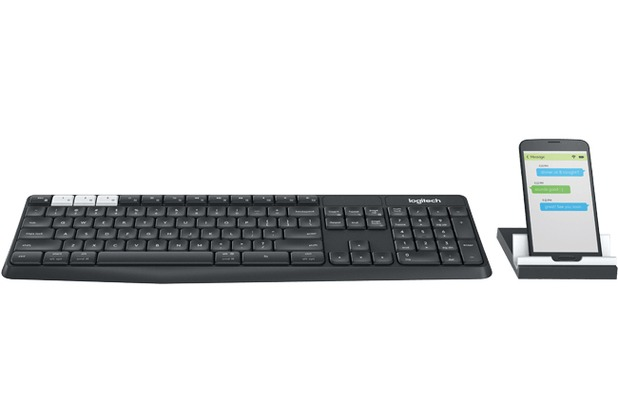 Logitech® K375s Multi-Device Wireless Keyboard and Stand Combo - GRAPHITE/OFFWHITE - 2.4GHZ/BT (DE)