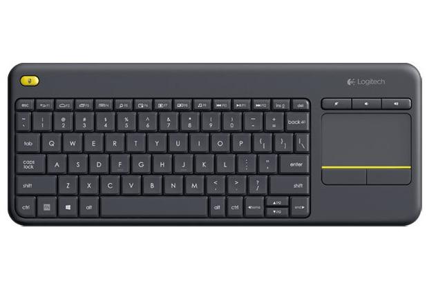 Logitech® Tastatur K400 Plus - Wireless - Unifying - Touchpad, schwarz