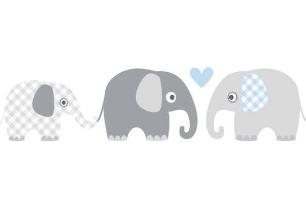 lovely label selbstklebende bord re elefanten grau blau. Black Bedroom Furniture Sets. Home Design Ideas
