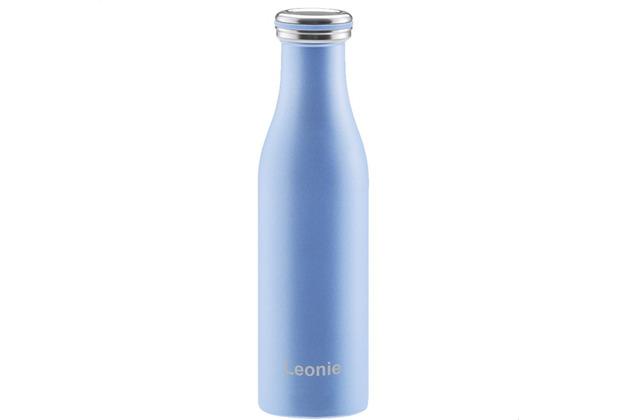 Lurch Isolier-Flasche MIT GRAVUR (z.B. Namen) 500ml pearl blue blau aus Edelstahl Thermoflasche