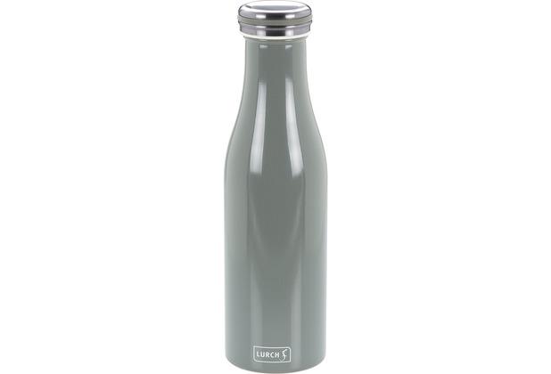 Lurch Isolierflasche 0,5l perlgrau, hält 12 Std. heiß/kalt, 100% dicht, Thermo-Flasche 500ml Edelstahl