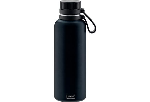 Lurch Outdoor Isolierflasche 1000ml nachtblau aus Edelstahl hält bis zu 12 Stunden heiß / 24 Stunden kalt