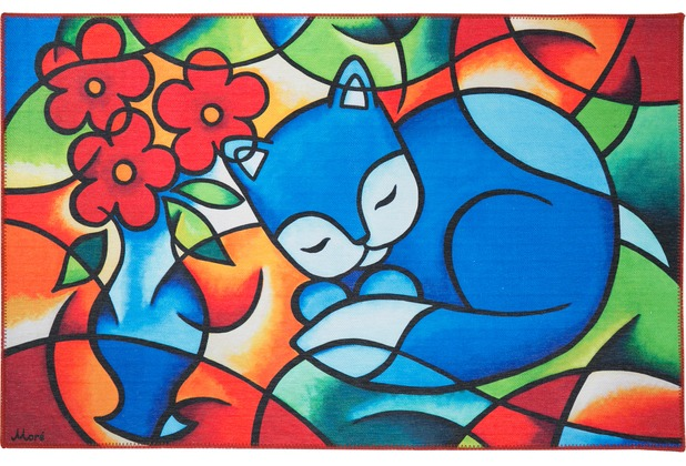 Luxor Living Kinderteppich Moré Blue Cat 100 cm x 160 cm