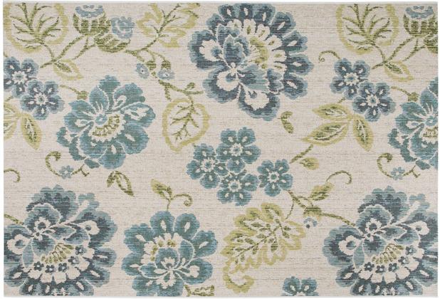 Luxor Living Teppich Lost Garden beige blau 80cm x 150cm