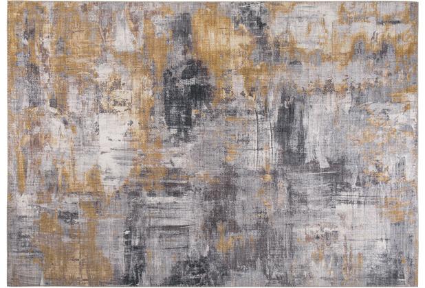Luxor Living Teppich Prima grau gelb 80 x 150