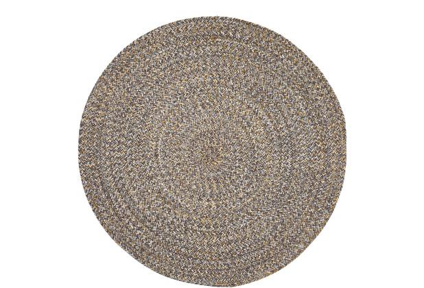 Luxor Living Teppich Varberg grau-gelb uni 80 cm rund