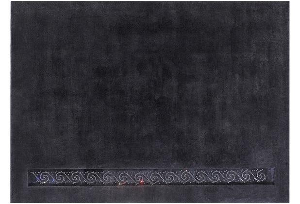 Luxor Style Nepalteppich Royal anthrazit 140 x 200 cm