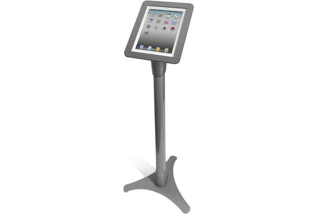 Maclocks Höhenverstellbarer Standfuß mit Sicherung für iPad 2/3/4, silber