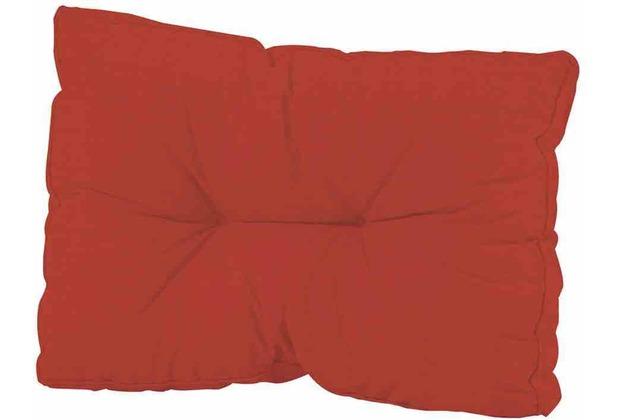 MADISON Paletten-Rückenkissen Basic, rot 50% Baumwolle / 50% Polyester