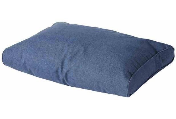 MADISON Paletten-Rückenkissen Oxford, blau wetterfest, 50% Baumwolle / 45% Polyester
