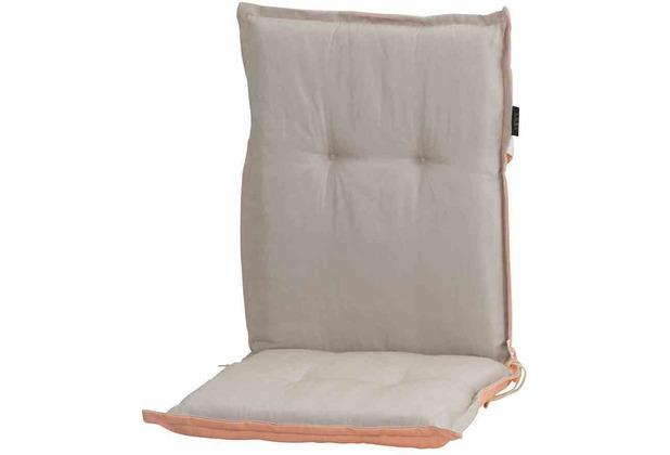 MADISON Panama peach duo Auflage, Niedriglehner 75% Baumwolle 25% Polyester