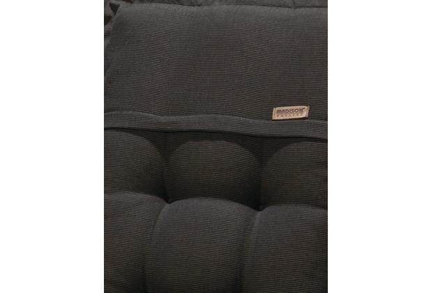MADISON Rib black Hockerauflage 100% Acryl