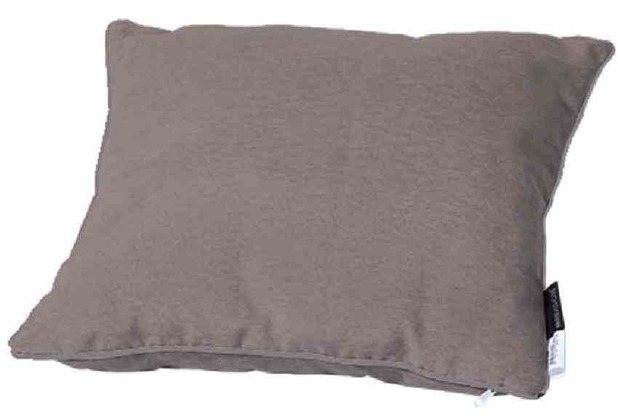 MADISON Zierkissen 45x45 cm, Panama taupe 50% Baumwolle / 45% Polyester