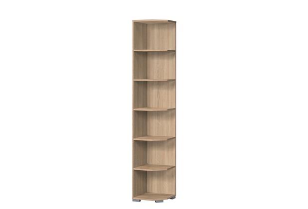 MAJA Möbel Abschlussregal SYSTEM Sonoma-Eiche 40 x 214,4 x 40 cm