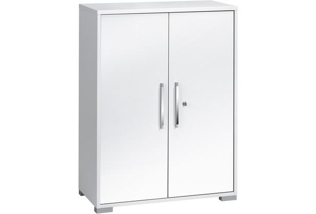 MAJA Möbel Aktenregal System Sets Icy-weiß weiß Hochglanz Typ I