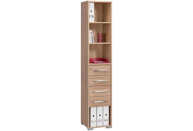 MAJA Möbel Aktenregal System Sets Sonoma-Eiche 42,1 x 214,4 x 40 cm