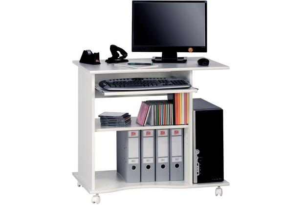 MAJA Möbel Computertisch OFFICE EINZELMODELLE weiß uni 80 x 75 x 50 cm