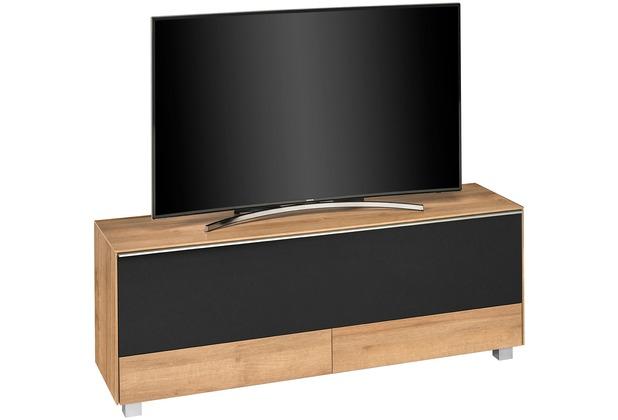 MAJA Möbel Soundconcept 7776 Riviera Eiche - Akustikstoff schwarz Soundboard