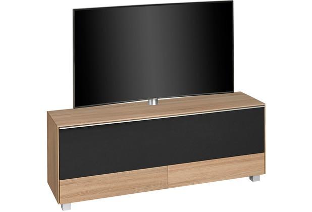 MAJA Möbel Soundconcept 7778 Sonoma-Eiche - Akustikstoff schwarz Soundboard