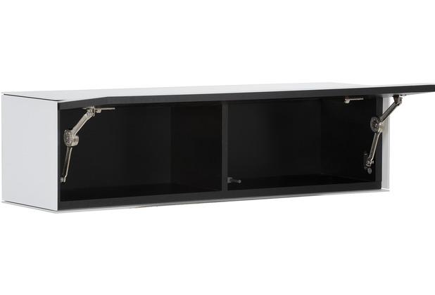 MAJA Möbel Hängeschrank SOUNDCONCEPT GLASS Weißglas matt 90 x 25 x 25 cm