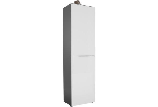 MAJA Möbel Garderobenschrank mit Glastop Trend anthrazit Weißglas Typ I
