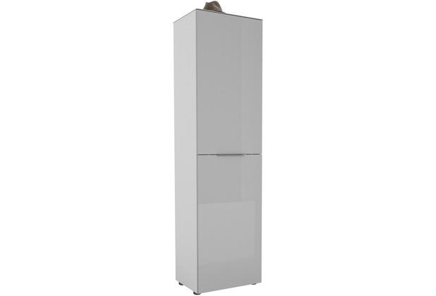 MAJA Möbel Garderobenschrank mit Glastop Trend weiß matt Glas seidengrau Typ I