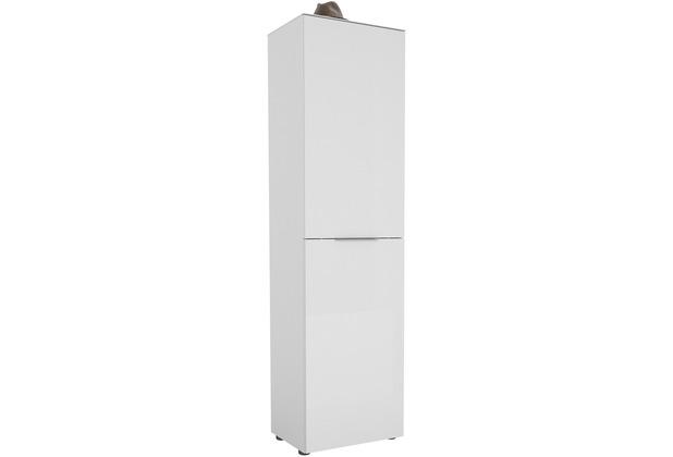 MAJA Möbel Garderobenschrank mit Glastop Trend weiß matt Weißglas Typ I
