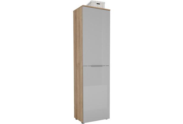 MAJA Möbel Garderobenschrank mit Holztop Trend Riviera Eiche Glas seidengrau Typ I