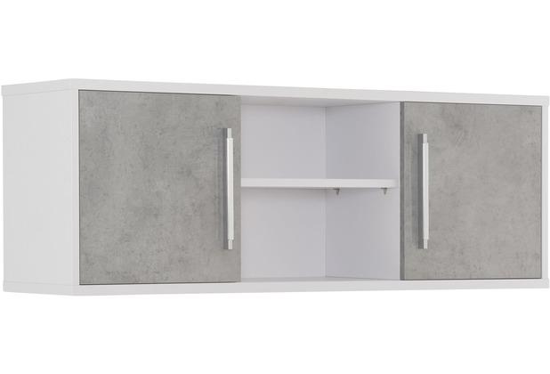 MAJA Möbel Hängeschrank System Icy-weiß steingrau Typ I