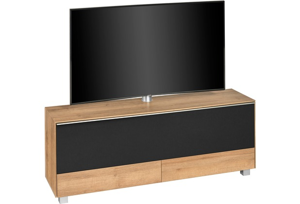 MAJA Möbel Soundconcept 7778 Riviera Eiche - Akustikstoff schwarz Soundboard