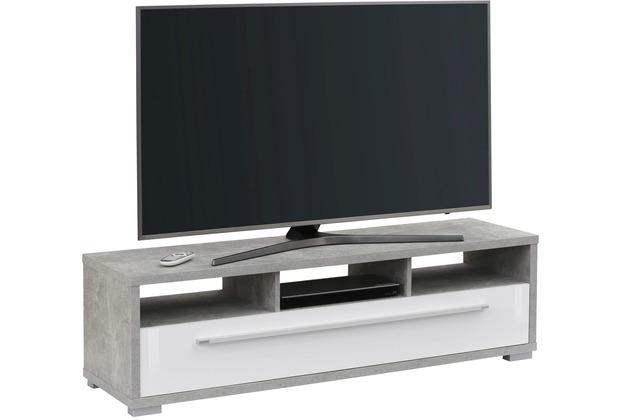 MAJA Möbel Lowboard Media Modelle Holz betonoptik weiß Hochglanz simpel