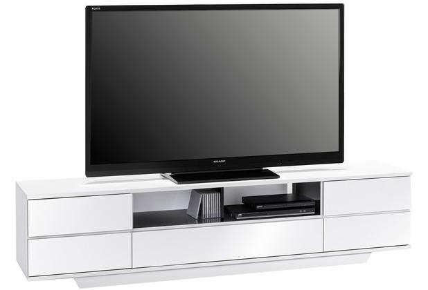 MAJA Möbel Lowboard weiß Hochglanz - schwarz Hochglanz 1996 x 460 x 400 mm