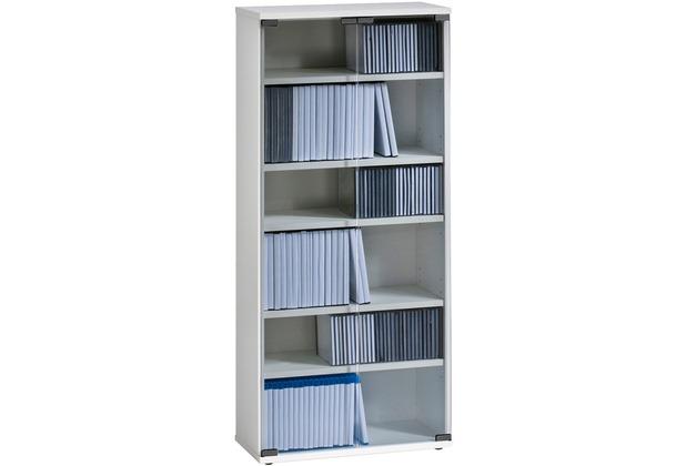 MAJA Möbel Medienregal weiß uni 500 x 1100 x 240 mm