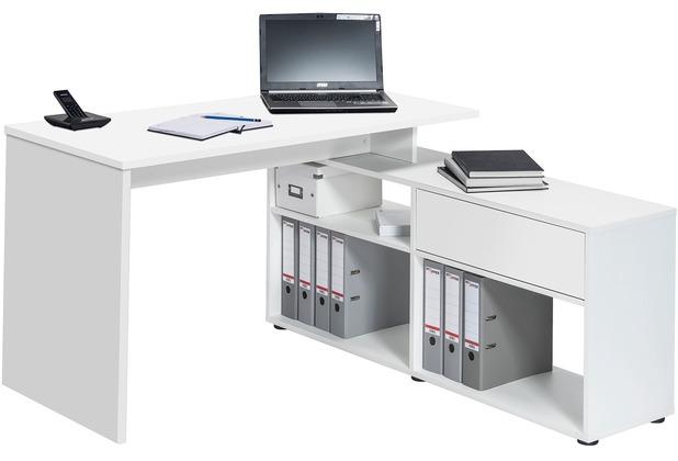 MAJA Möbel Schreib- und Computertisch OFFICE EINZELMODELLE Icy-weiß 137 x 74,2 x 130 cm