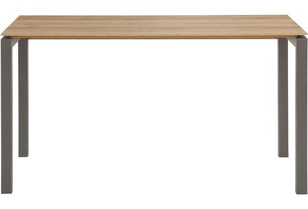 MAJA Möbel Schreib- und Computertisch Metall anthrazit - Riviera Eiche 1400 x 746 x 650 mm