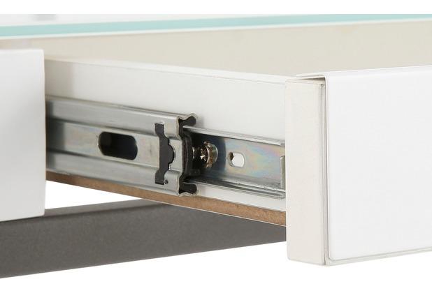 MAJA Möbel Schreib- und Computertisch Metall anthrazit - Weißglas 1250 x 880 x 600 mm