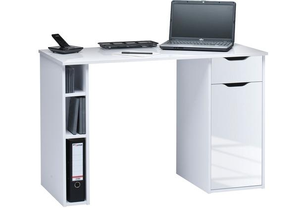 MAJA Möbel Schreib- und Computertisch OFFICE EINZELMODELLE weiß Hochglanz - Icy-weiß 115 x 75 x 50 cm