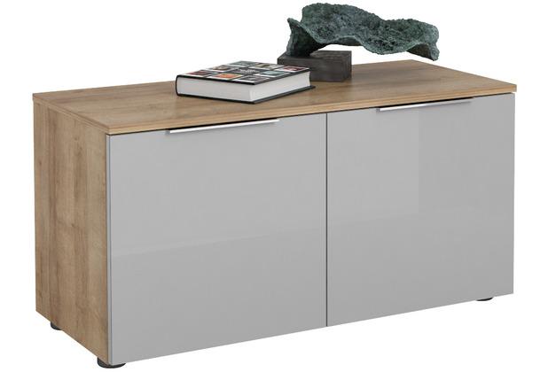 MAJA Möbel Schuhbank Trend Riviera Eiche Glas seidengrau Typ II