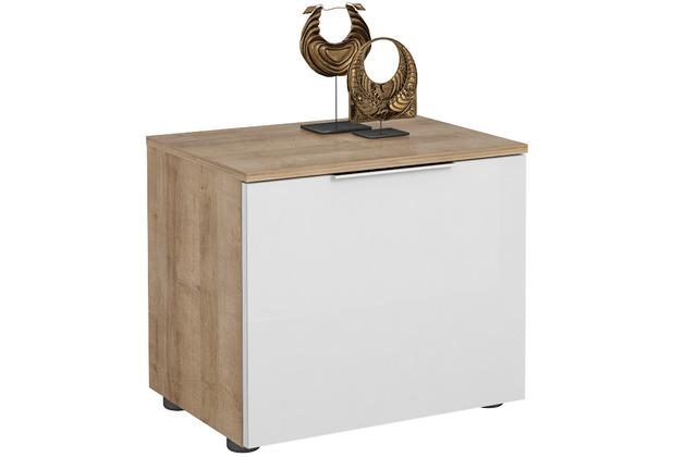 MAJA Möbel Schuhbank Trend Riviera Eiche Weißglas Typ I