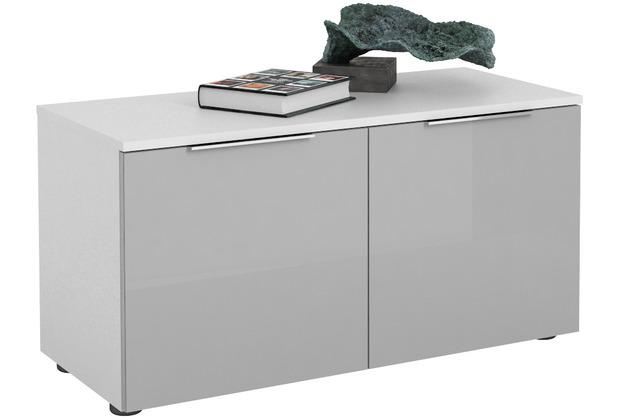 MAJA Möbel Schuhbank Trend weiß matt Glas seidengrau Typ II