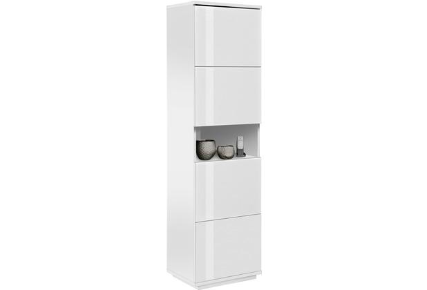MAJA Möbel Schuhschrank Alea weiß matt Weißglas
