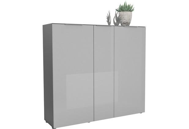 MAJA Möbel Schuhschrank mit Glastop TREND GARDEROBE anthrazit - Glas seidengrau 135,3 x 124,3 x 40 cm