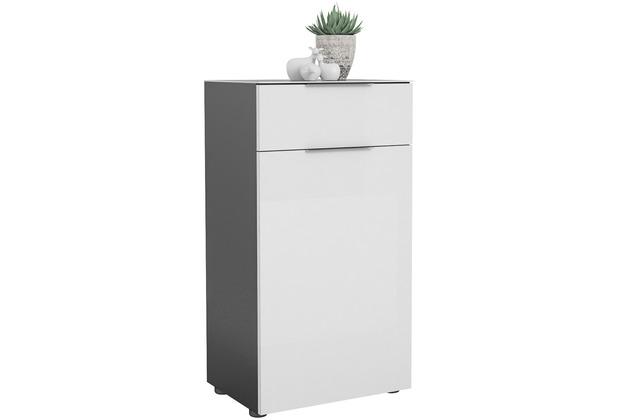 MAJA Möbel Schuhschrank mit Glastop Trend anthrazit Weißglas Typ I